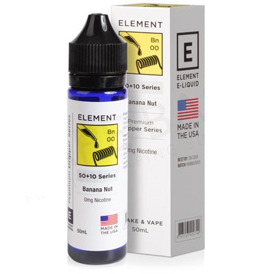 Banana Nut Dripper E-Liquid By Element 50ml 0mg