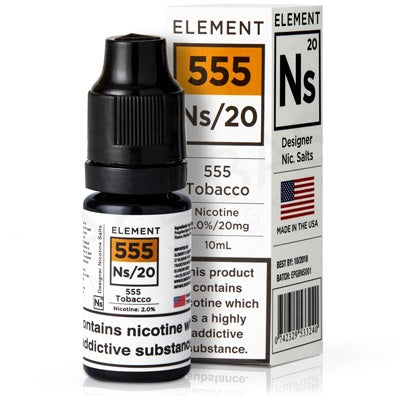 10ml 555 Tobacco Salt Nicotine eLiquid 20mg