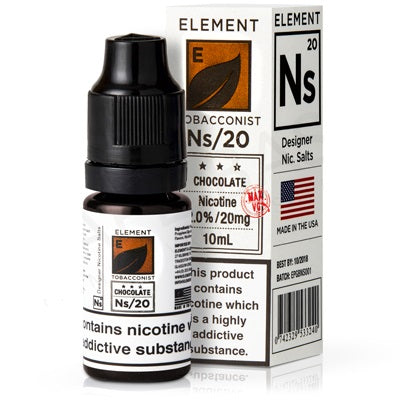 10ml Chocolate Tobacco Salt Nicotine eLiquid 20mg