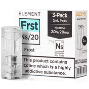 NS20 Frost E-Liquid Pod by Element 20mg x 3