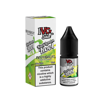 IVG Kiwi Lemon Kool 10ml Salt Nicotine - Loop-E-Juice