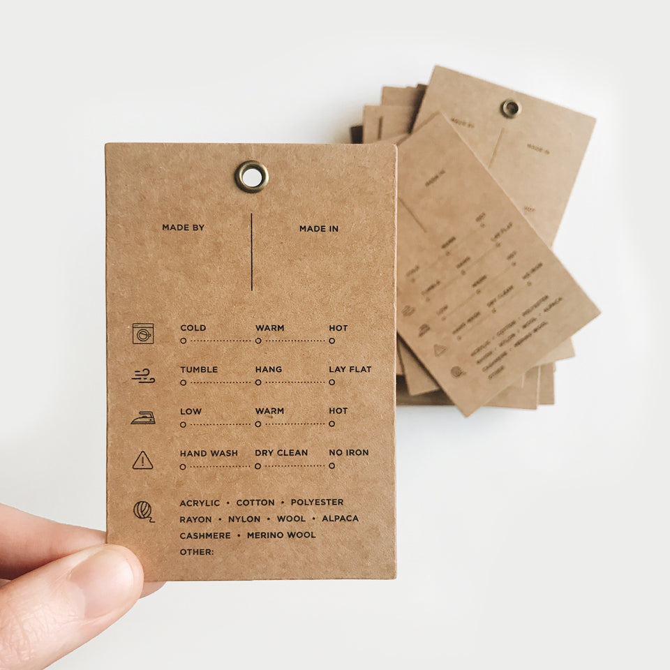 Care Instructions Tag (FREEBIE!)