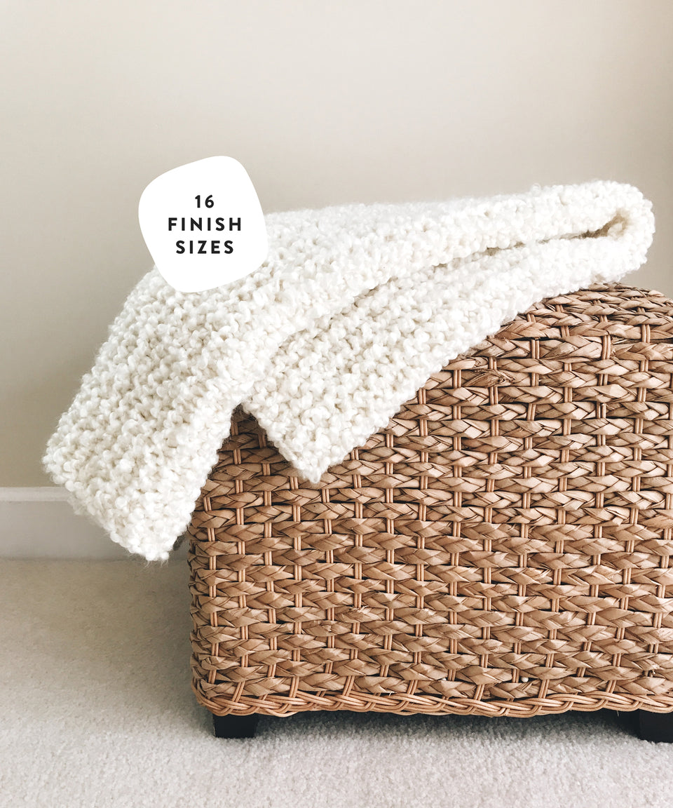 KNIT ⨯ The Bouclé Blanket