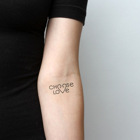 Choose Love tatuaje temporal (Set de 2)