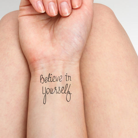 Believe in yourself tatuaje temporal (Set de 2)