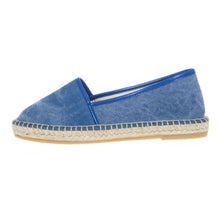 Blue cotton espadrilles