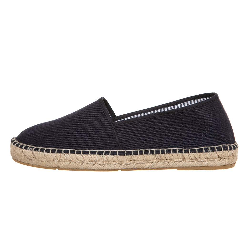Navy blue cotton espadrilles