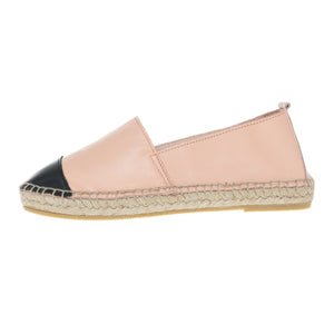 Pink leather espadrilles