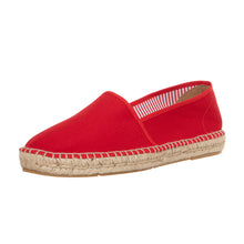 Red cotton espadrilles