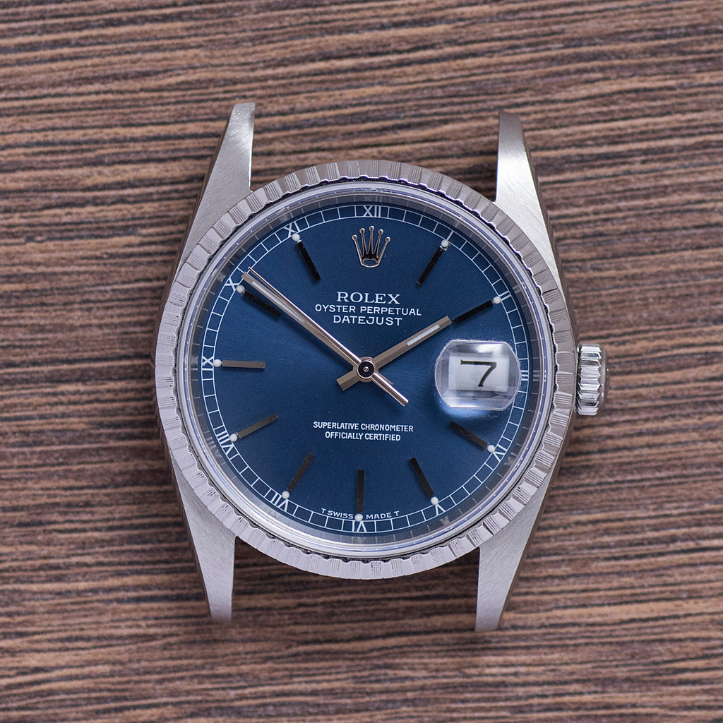 1989 Rolex Datejust Blue Dial Ref.16220 Mint Condition