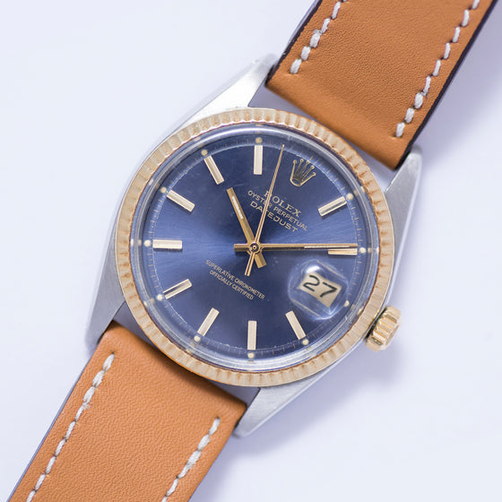 <b>ON HOLD</b> - 1969 Rolex Datejust Bimetal Original Blue Dial Ref. 1601