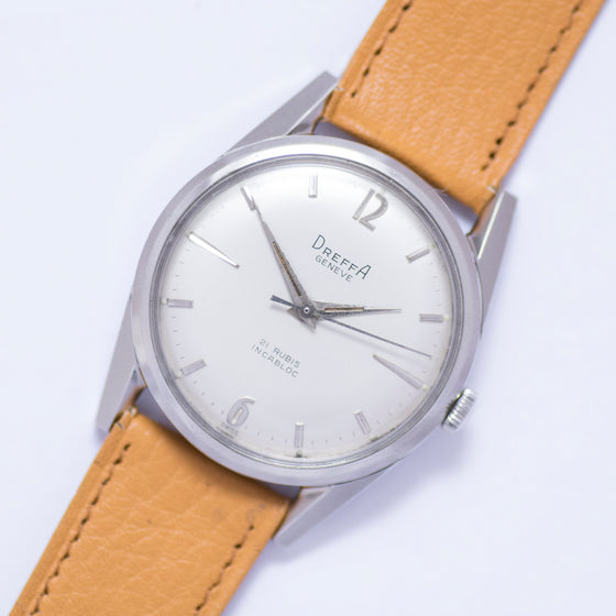 1970 Dreffa Silver Dial Screw-Back