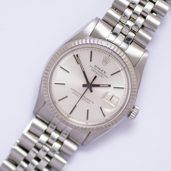 <b>ON HOLD</b> - 1973 Rolex Oyster Perpetual Datejust Ref.1601 Silver Dial