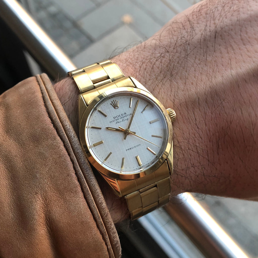 1970 Rolex Air King 5520 Automatic Gold Plated