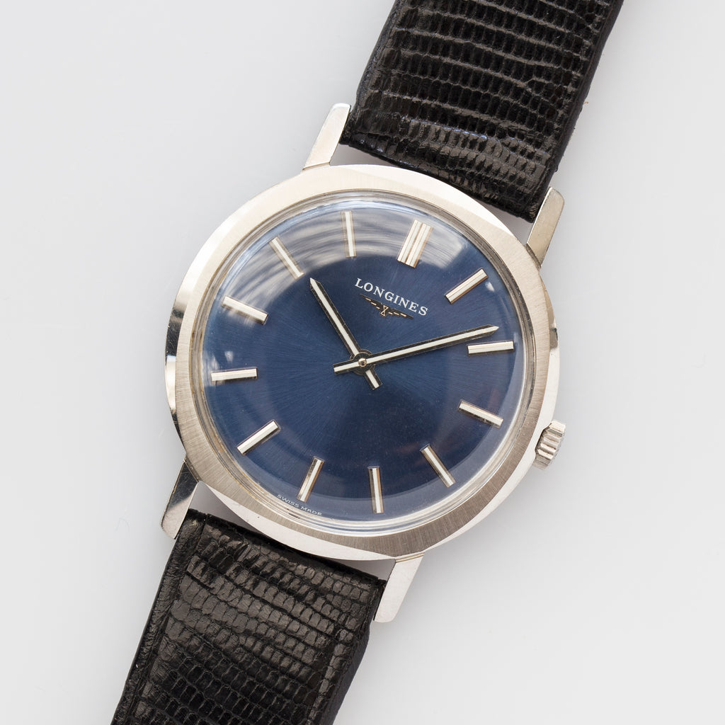 1971 Longines Blue Dial with original Strap and Buckle