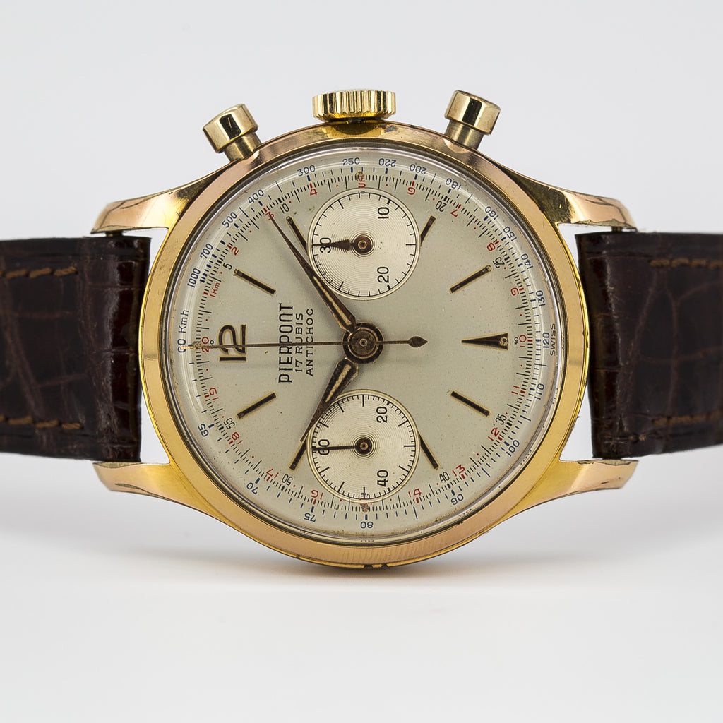 1959 Pierpont Gold-Plated Chronograph with Original Warranty Paper