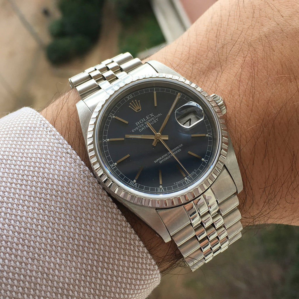 <b>ON HOLD</b> - 1989 Rolex Datejust Blue Dial Ref.16220 Mint Condition