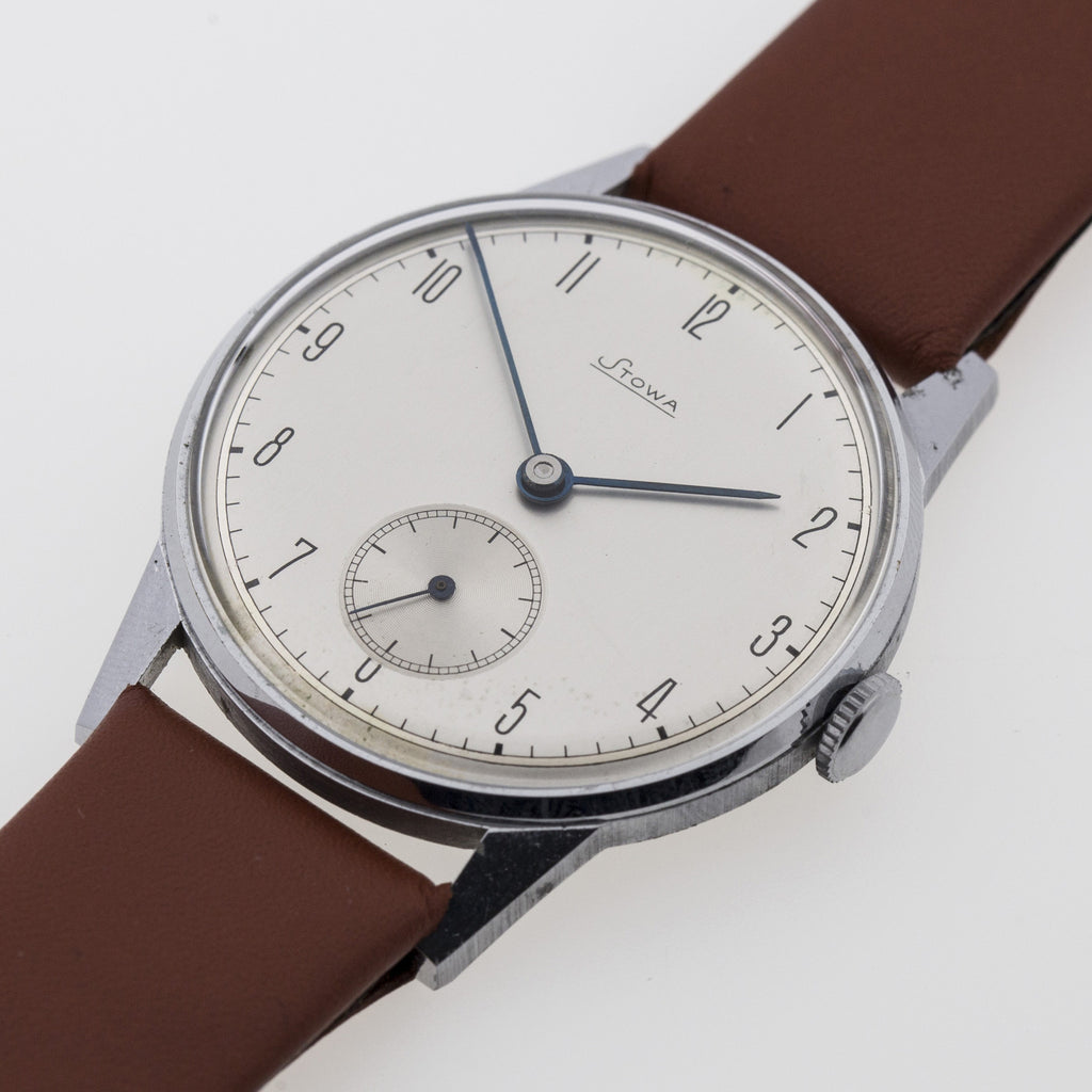 1940 Stowa New-Old-Stock Oversize Silver Dial