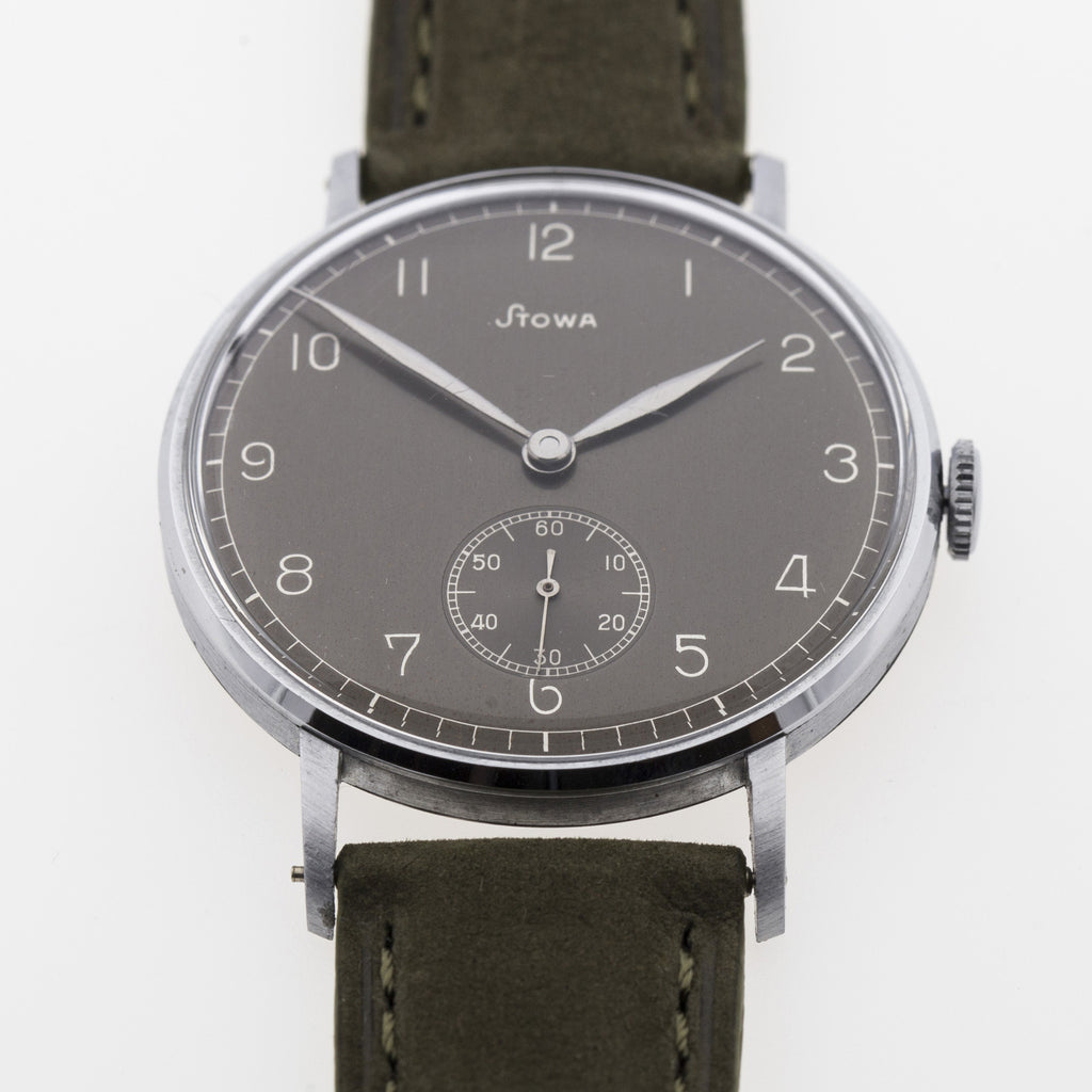 1940 Stowa NOS Oversize Slate Dial