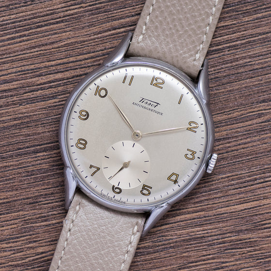 <b>ON HOLD</b> - 1949 Tissot NOS 37mm Original Tag