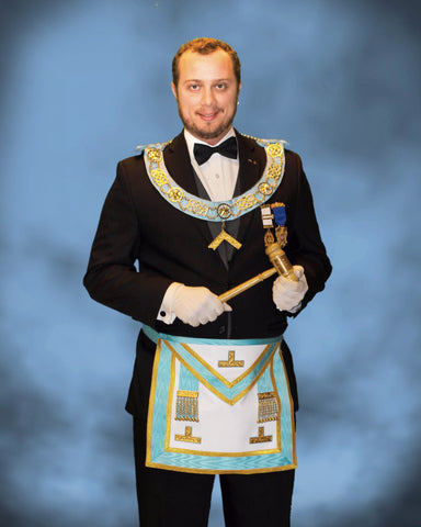 Worshipful Master, Michael Reiach