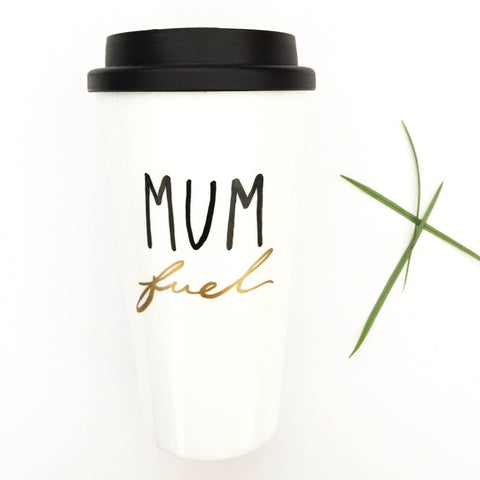 Travel mug; MUM fuel