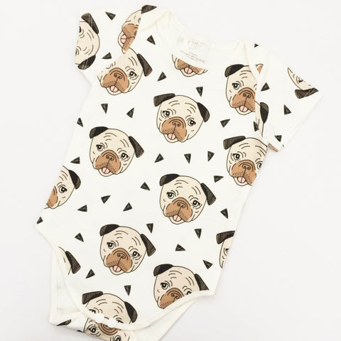 Baby Onesie; Pugsly the Pug (3-6mths)