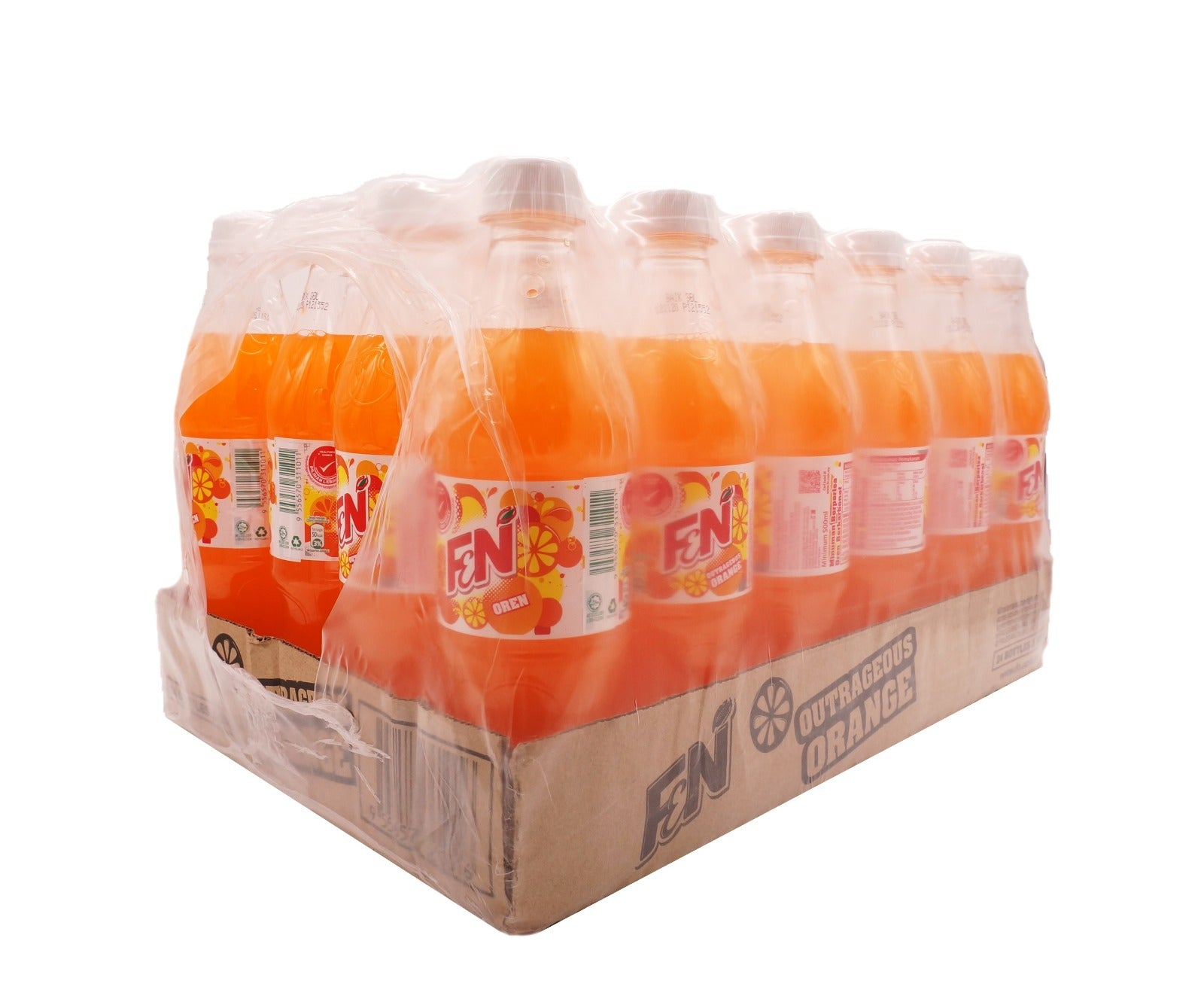 F&N Orange Bottle (24 x 500ml – Carton)