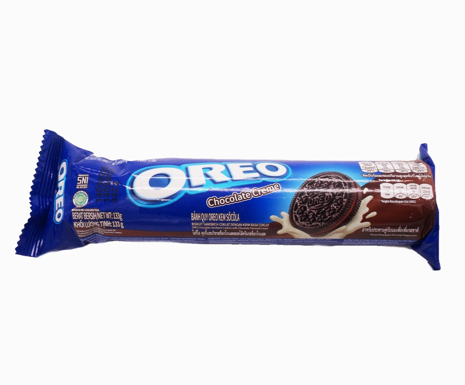 Oreo Cookie Sandwich Biscuit Roll - Chocolate  (133g – Piece)