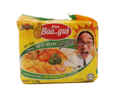 Ibumie Mee Baagus Packet Noodle - Chicken Soto (5 x 75g – Piece)