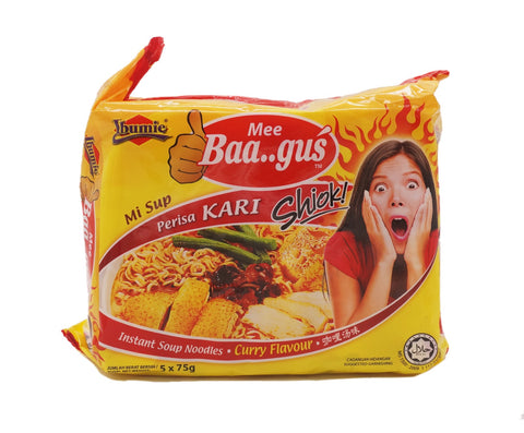 Ibumie Mee Baagus Packet Noodle - Curry (5 x 75g – Piece)