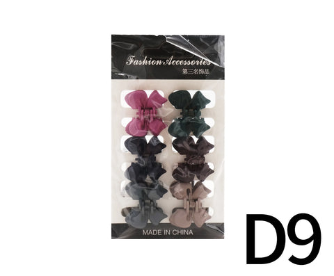 Pastel Color Hair Clips 6s - D9 (14g – Piece)