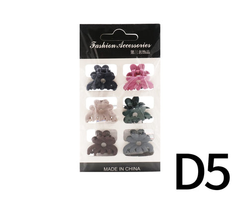 Pastel Color Hair Clips 6s - D5 (14g – Piece)