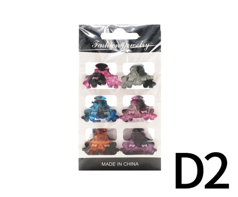 Pastel Color Hair Clips 6s - D2 (14g – Piece)