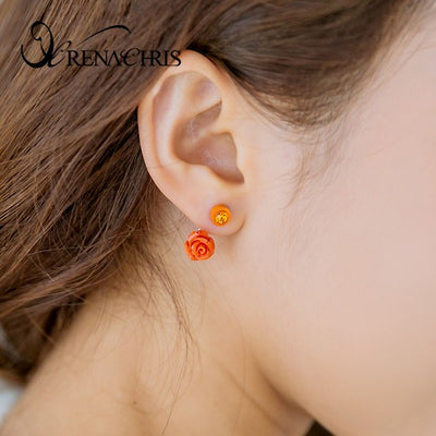 Rose Point Earring