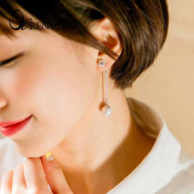 Square Line Earring
