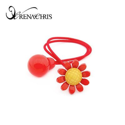 Sun Flower Ponytail Holder