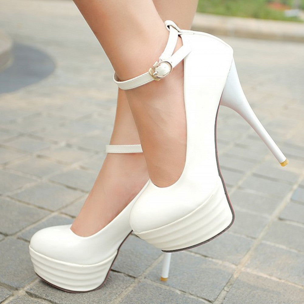 High Heels Women Shoes White Bridal Shoes