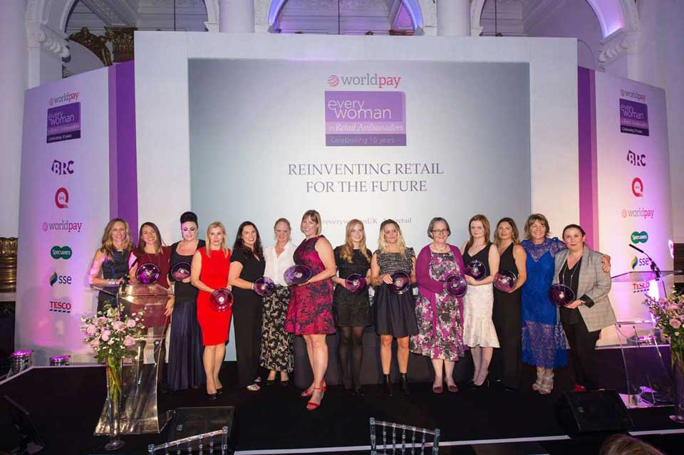 Celebrating and Advancing Women in Retail — Worldpay UK everywoman Retail Ambassador Programme Awards Night