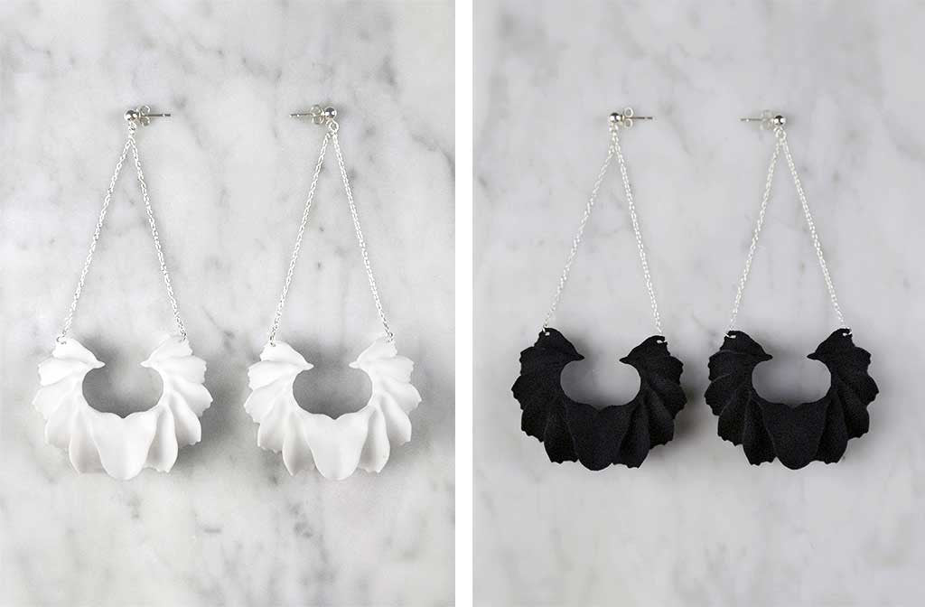 Calla Swing 3D Printed Earrings — OHLINA | Contemporary 3D Printed Jewellery