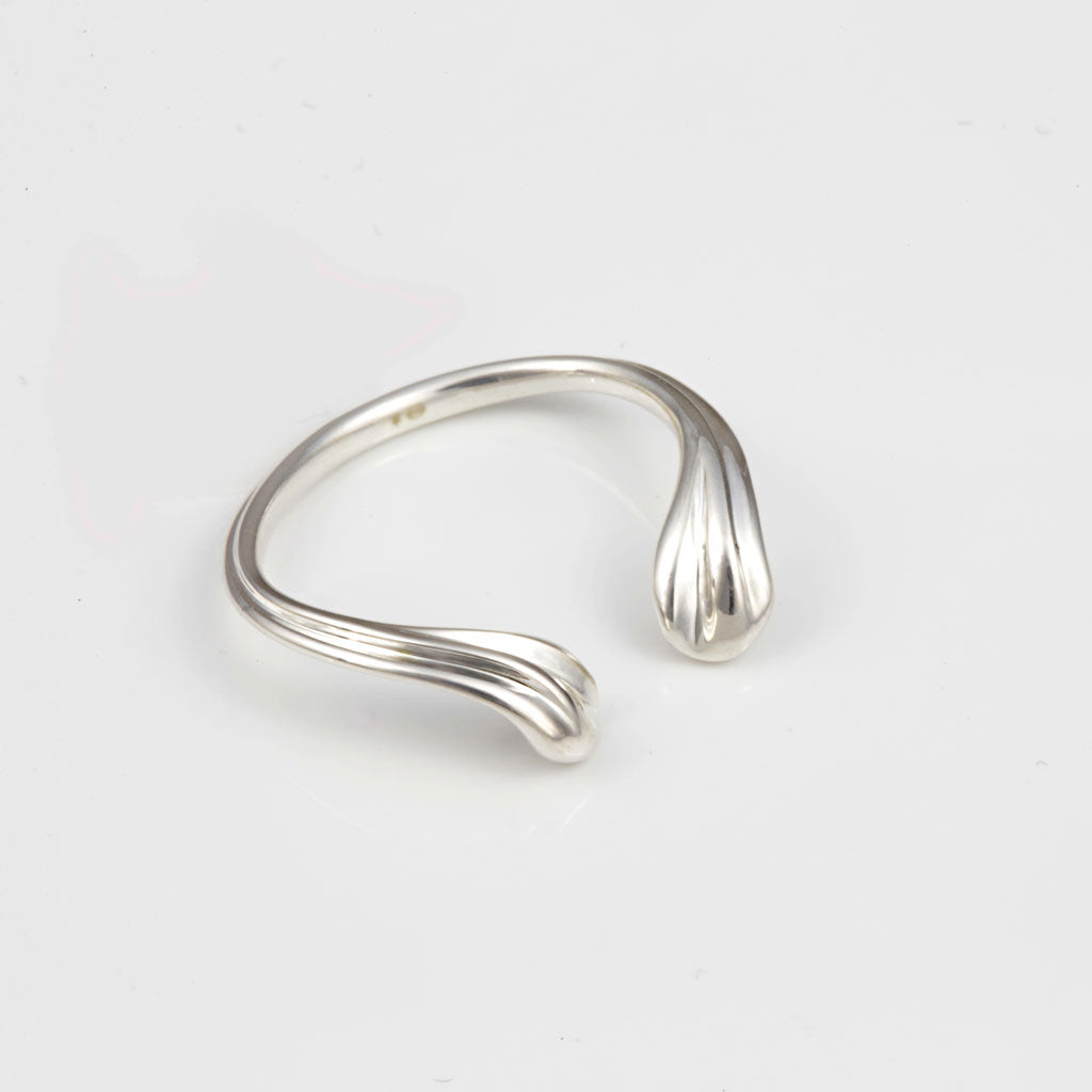 DEMI Silver Ring — OHLINA | Contemporary 3D Printed Fine Jewellery