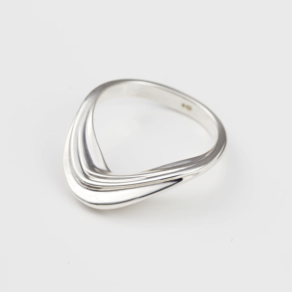 LAMINAE Silver Ring — OHLINA | Contemporary 3D Printed Fine Jewellery