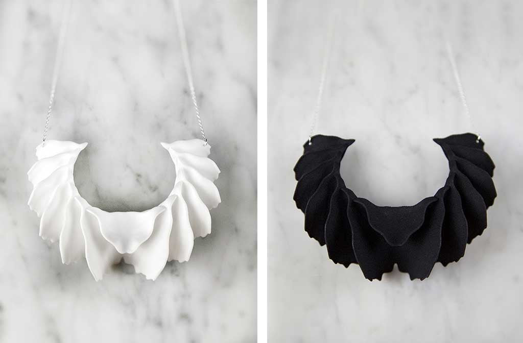 Sculptural Aria 3D Printed Necklace — OHLINA | Contemporary 3D Printed Jewellery