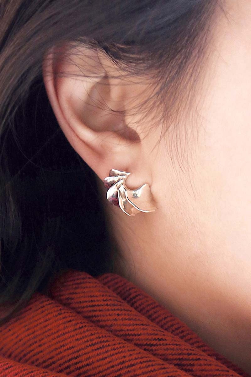 Baby Delilah Earrings in Sterling Silver — OHLINA | Contemporary 3D Printed Jewellery