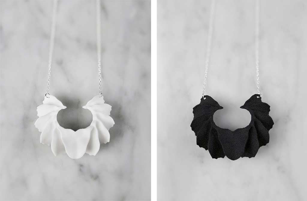 Calla Swing 3D Printed Necklace — OHLINA | Contemporary 3D Printed Jewellery