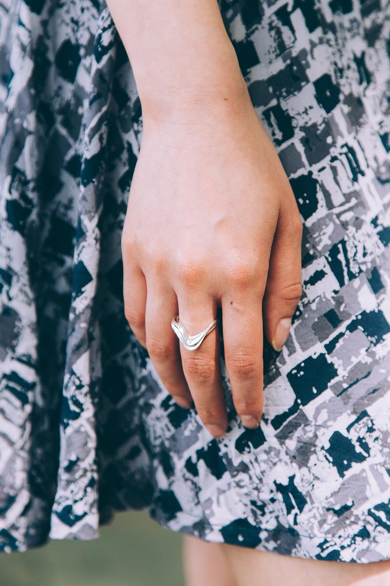 ENNA Silver Ring — OHLINA | Contemporary 3D Printed Fine Jewellery