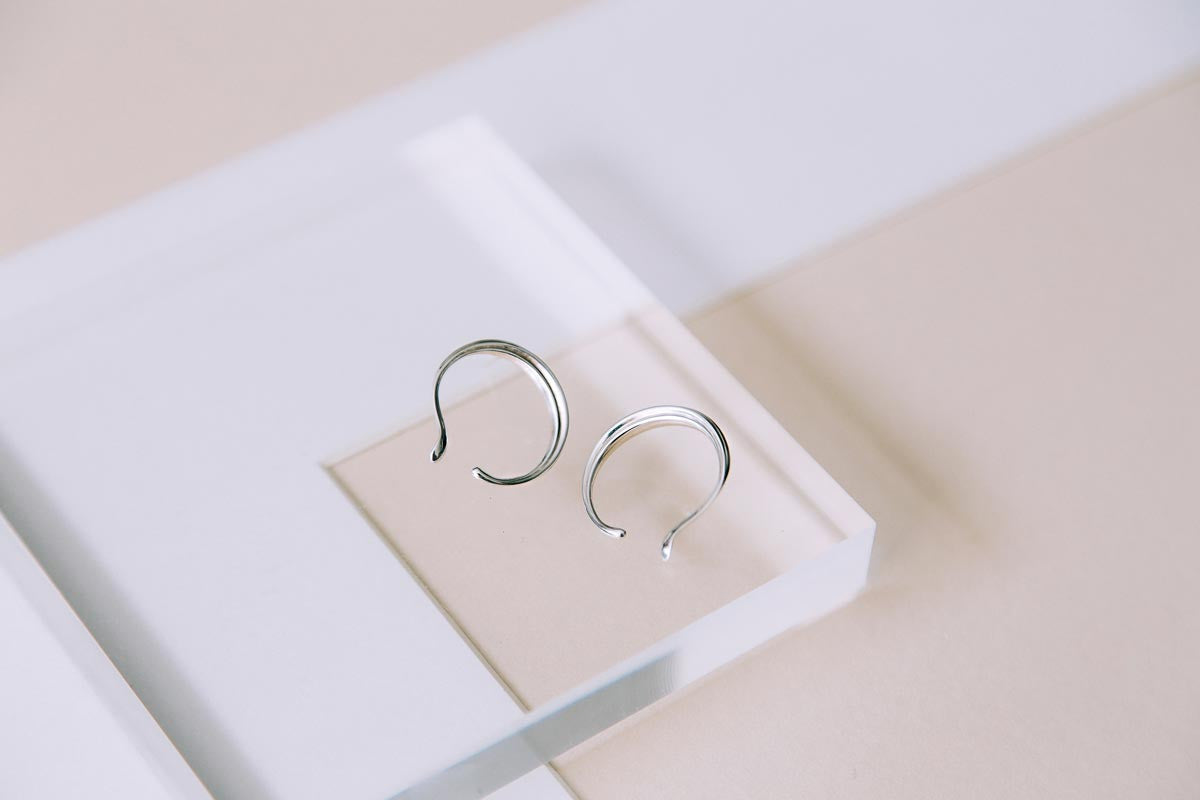 MALEE Curl Earrings — OHLINA | Contemporary 3D Printed Fine Jewellery