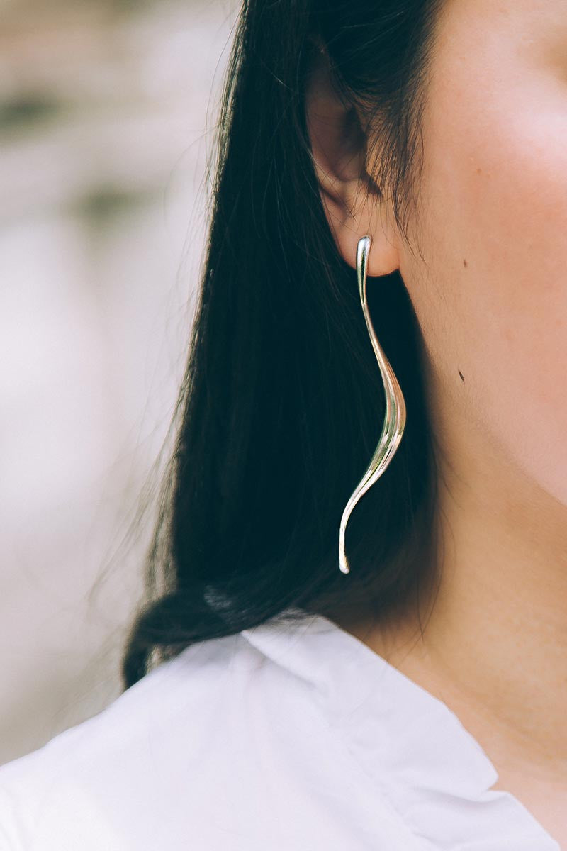 Valentina Long Earrings — OHLINA | Contemporary 3D Printed Fine Jewellery