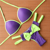 Candy Bow push up brazil bikini - Lila-kiwi - MintyDust