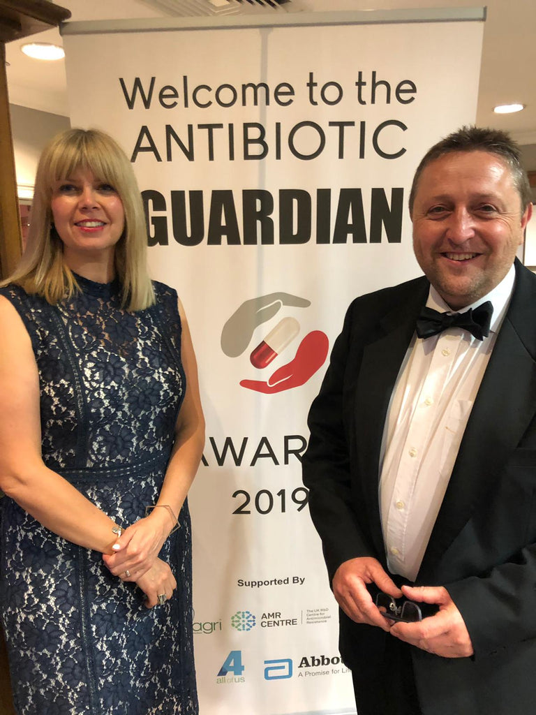 A Nuffield Scholarship leads to a Public Health England award for reduced antibiotic use in agriculture.
